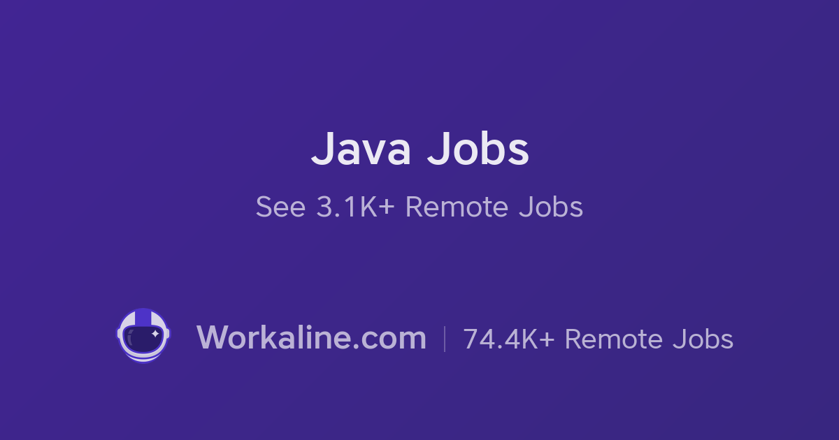 1126 Java Remote Jobs × May 2019 × Workaline com