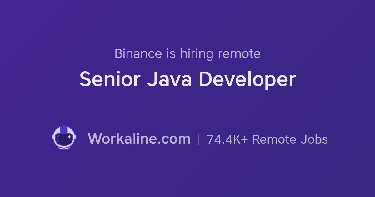 Binance × Senior Java Developer × Workaline