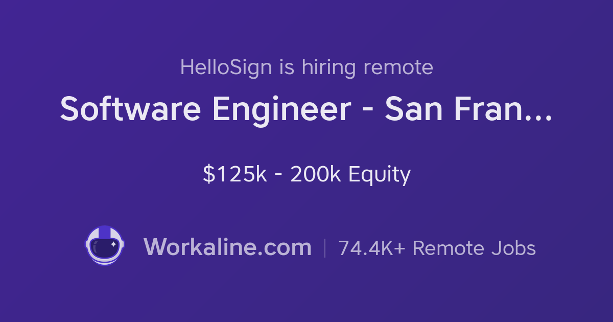 hellosign  u00d7 software engineer
