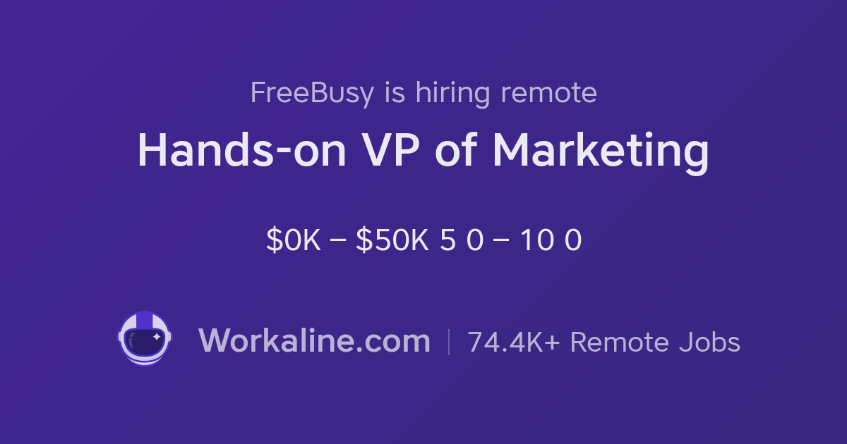 FreeBusy × Hands-on VP of Marketing × Workaline